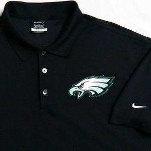 S-2XL Black Nike Philadelphia Eagles Mens 84A Polo